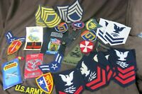 Lot 23 US Military Patches and 6 Assorted Other Military Items Army Air Force