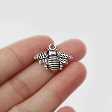 30x Tibetan Silver Tone Bumble Bee Honeybee Charms Pendants For Jewelry Findings