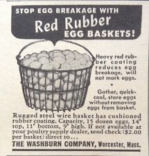 1918 AD(XE21)~THE WASHBURN CO. WORCESTER, MASS. RED RUBBER EGG BASKETS