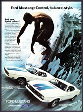 1972 Ford Mustang Sprint Decor SportsRoof & Hardtop Surfer photo promo print ad