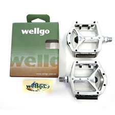 "Wellgo MG-3 9/16"" Magnesium MTB Mountain / Road Bike Pedals Platform - Silver"