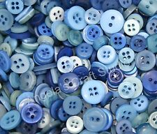 100 SMALL BLUE Buttons New - Craft Sewing Scrapbooking Card Projects & more