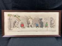 Boris O'Klein Vintage Original Pencil Etching - Dirty Dogs of Paris - Signed.