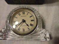 Shannon Fine Lead Crystal Design of Ireland Small Mantle Clock Quartz Movement