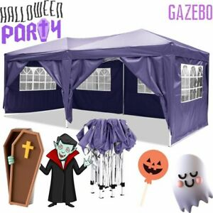 3x6M Pop-up Gazebo Heavy Duty Marquee Canopy Garden Party Tent Patio Car Shelter