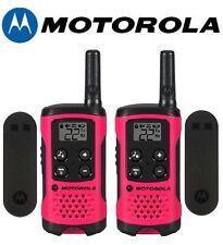 Motorola Talkabout T107 Walkie Talkie 2 Pack 16 Mile Two Way Pink Radios