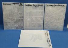 4 CUTTLEBUG A2 Embossing Folder Destash Lot #10 - Scrapbook Cardmaking Crafts