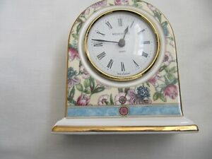 Wedgewood Sarah pattern  bone China dome small clock 1995 perfect condition