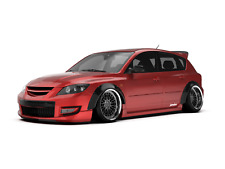 "Mazda 3 Fender FlaresCONCAVE Mazdaspeed3 MPS wide body wheel arches 2.75"" 4pcs"