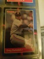 Greg Swindell Cleveland Indians Donruss 88 Leaf Cards Ungraded