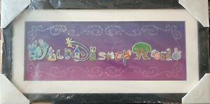 Walt Disney World Park Attractions Character Letter Framed 15 Pin Set