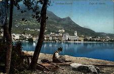 1909 Stempel RIVA auf AK Gardone Riviera Italien Lago di Garda Gardasee Gardone