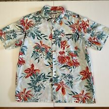Columbia  size L Hawaiian shirt blue red short sleeves 100 % cotton
