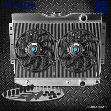 Aluminum Cooling Radiator FOR CHEVY IMPALA 59-63/60-65 BELAIR PRO + 2 * Fan 12