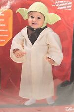 Rubie's Star Wars Yoda  Halloween Costume Infant Baby Boy Size 24 Months NEW