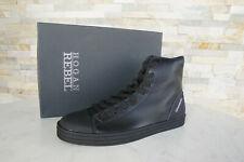 HOGAN Gr 9  43 High Top Sneakers Schnürschuhe NEU Schuhe schwarz ehem.UVP 290 €