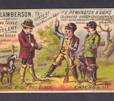 New ListingRemington & Sons Rifle 1800's Shells Revolver Lamberson Sporting Good Trade Card