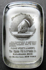 Upjohn's Friable Pills Barnes & Abrams Glass Advertising Medicine Paperweight