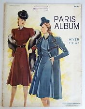Vintage WW2 French High Fashion Magazine Catalog Paris Album 1941