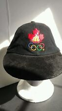 Canadian Olympic -Atlanta 1996 Baseball Adj. Strapback Black Hat Suede Bill Hat