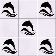Dolphin Tile Wall Car Window Sticker Pack of 6 Vinyl Decal Sticker Stencil