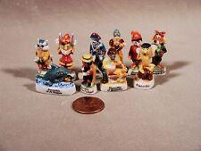 Pinocchio Porcelain Miniatures Set French Feves Beautiful