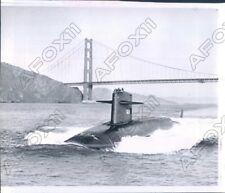 1964 CA Polaris Armed Nuclear Submarine the Woodrow Wilson Sailed Press Photo