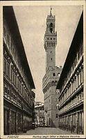 Firenze Florenz Italien s/w AK ~1920/30 Porto degli uffizi e Palazzo Vecchio