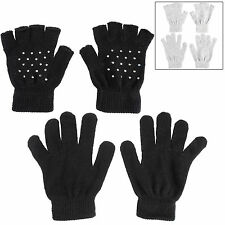RJM Women's Acrylic Fingerless Gloves & Mittens