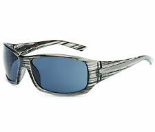 Stone by BLOC Sunglasses STORM Crystal Grey Stripe with Grey Lens 57170