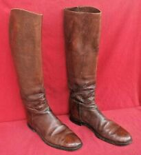 Original WWI US Cavalry Officer Leather Tall Riding Boots~Size 9 D - No Reserve