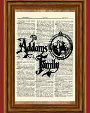 The Addams Family Dictionary Art Print Poster Picture Morticia Gomez Fester