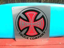 Large independent truck skateboard sign collectors surfboard santa cruz company