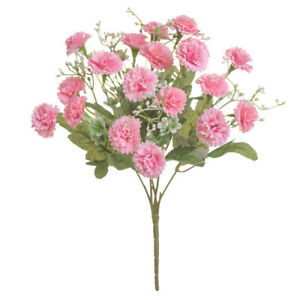 20 Head Artificial Cloves Carnations Bouquet Fake Flower Floral Party Home Decor