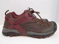 KEENDry Waterproof Hiking Low Boots Shoes Women's Sz 8 Purple Maroon Brown