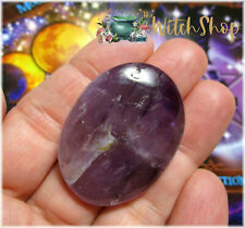 Purple AMETHYST Worry Stone Palm Pocket Touch Gratitude Gridding Wicca Witch