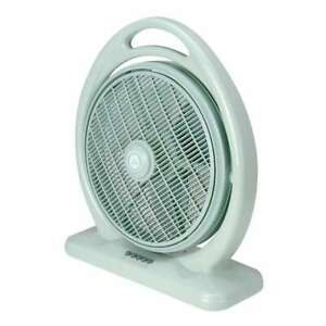Box Fan with Louver Rotation 14 in. 3 Speeds Push Button Controls Room Indoor