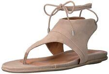 Gentle Souls Olson Open Toe T-Strap Tie Up Women's Sandals Dk Mushroom Sz 7 NIB
