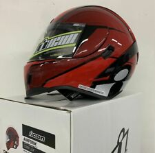 Icon Airform Sport Motorcycle Helmet Red Large