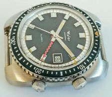 NOS vintage wyler DIVER ALARM GMT lifeguard incaflex men wristwath case