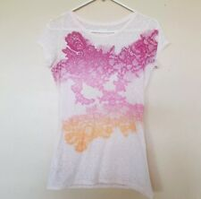 EXPRESS Womens Graphics Studs Casual Shirt Top Small
