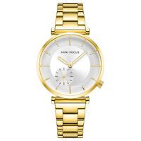 Ladies Watch Gold Stainless Steel Analog Quartz Dress Womens Wrist Watches