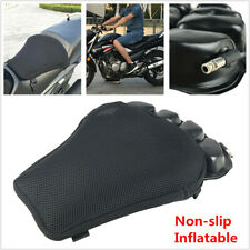 Motorcycle Seat Nonslip Inflatable Cushion Cover Mesh Cloth Pad Breathable Black