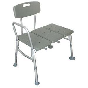 Heavy Duty Wheelchair To Bath Tub Shower Transfer Bench Transfer Seat Hand Rail