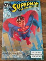 SUPERMAN THE MAN OF STEEL #1 (JUL 1991) DC COMICS 48 PAGE 1ST ISSUE!NM
