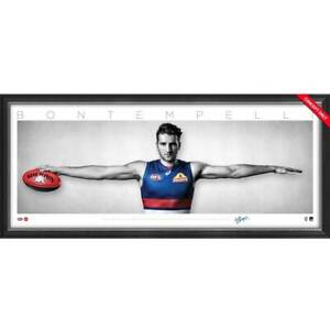 Marcus Bontempelli Signed Western Bulldogs Mini Wings Official AFL Print Framed