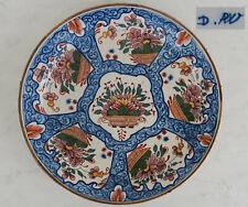 DELFT Manufacture de « PAEUW » Grand PLAT Faïence du XVIIIème ca 1690/1710
