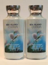 LOT 2 BATH & BODY WORKS SEA ISLAND COTTON BODY LOTION CREAM 8 OZ SHEA VITAMIN E