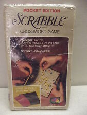 SCRABBLE POCKET EDITION CROSSWORD GAME #27 SELCHOW & RIGHTER NIB SEALED 1978 !
