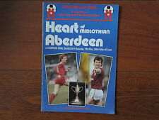 1986 SCOTTISH CUP FINAL HEART OF MIDLOTHIAN v ABERDEEN